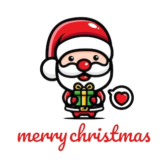 크리스마스를 축하하는 산타 클로스
