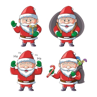 Santa claus character collection  illustration
