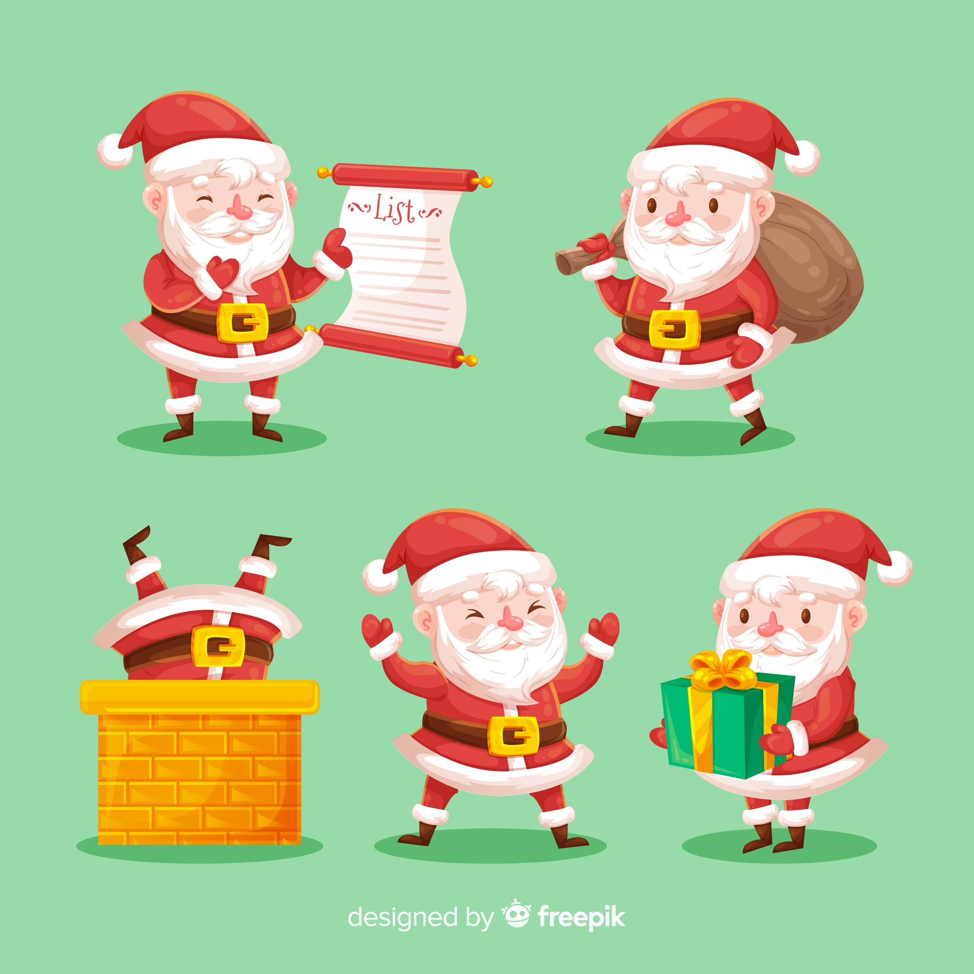 Santa claus character collection