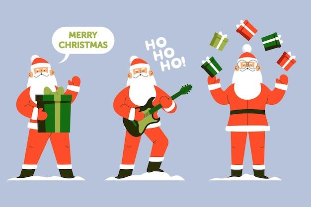 Santa claus character collection