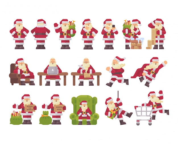 Santa claus character collection.
