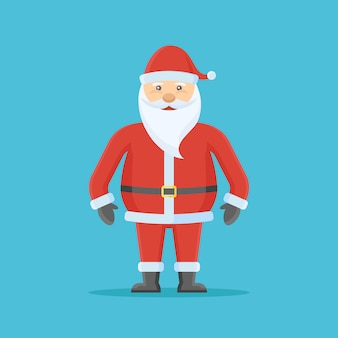 Santa claus character in flat style