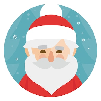 Santa claus character illustration. merry christmas