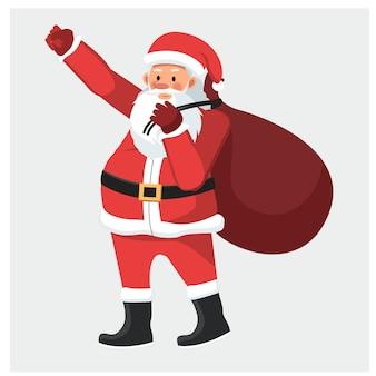 Santa claus character vector.