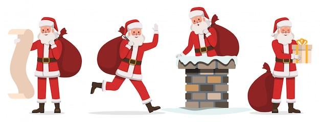 Santa claus characters