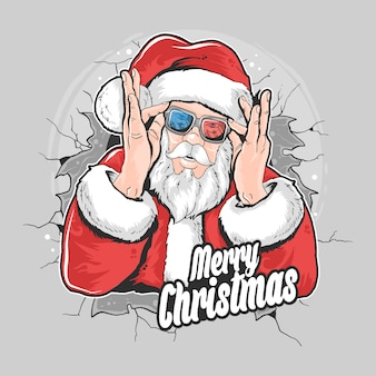 Santa claus christmas artwork element