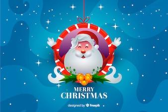 Санта-Клаус рождественский фон