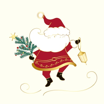 Santa claus christmas design vector