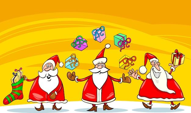 サンタクロースクリスマスグループ漫画