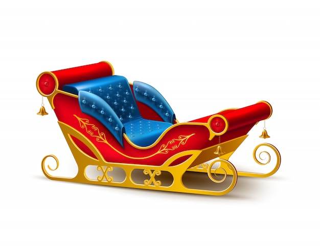 Santa claus christmas holiday sleigh
