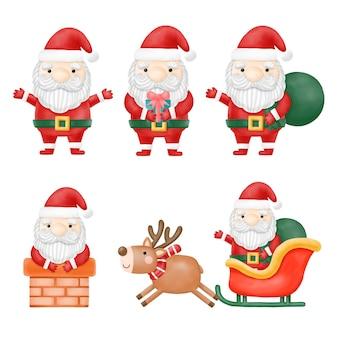Санта-клаус клипарт, с рождеством, цифровая живопись