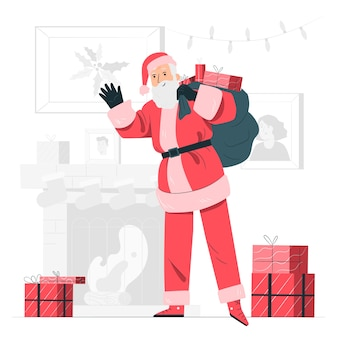 Santa claus concept illustration