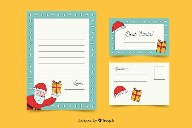 Santa claus copy space stationery template