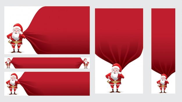 Santa claus copy space for text promo