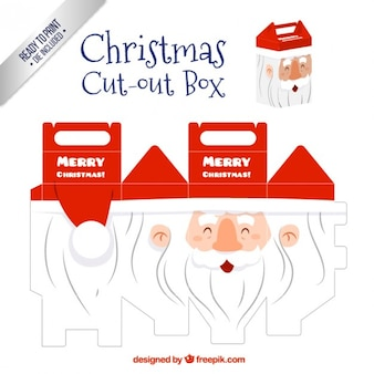 Santa claus cut out box