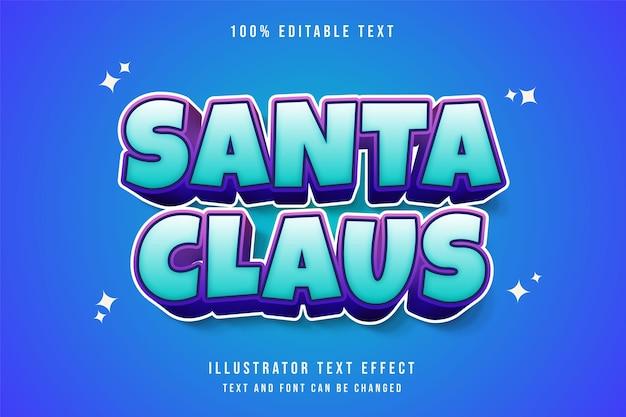 산타 클로스 편집 가능한 텍스트 효과 핑크 그라데이션 스타일
