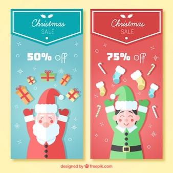 Babbo natale e banner elf vendita