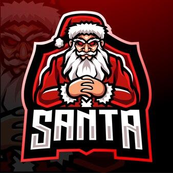 Санта-клаус киберспорт дизайн логотипа талисмана