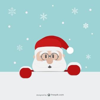 Санта-клаус лицо мультфильм