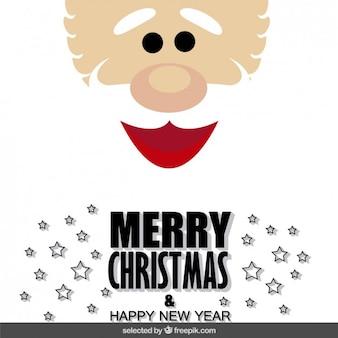 Santa claus face christmas card