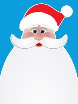 Санта-Клаус лица Illustation