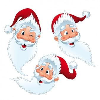 Santa claus faces design
