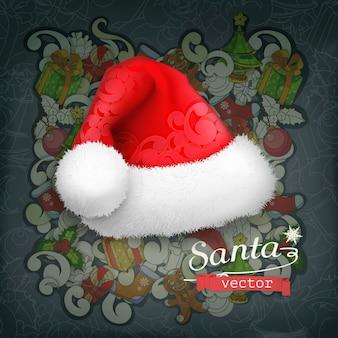 サンタクロースの帽子の背景