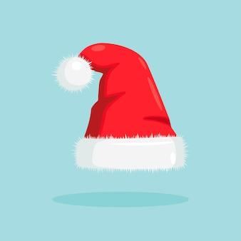 Шляпа санта-клауса. красная шапочка для празднования рождества