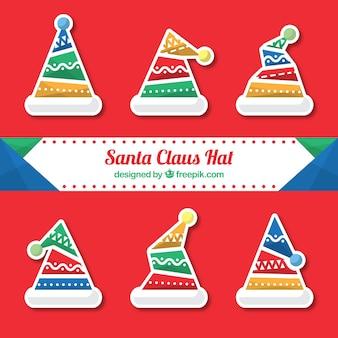 サンタクロース帽子ステッカー