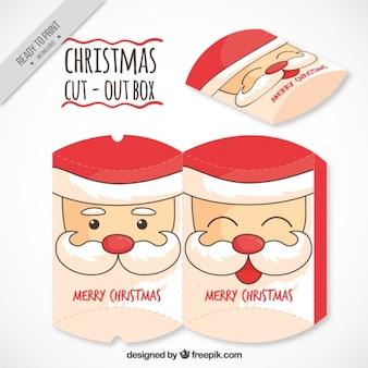 Santa claus head cut out box