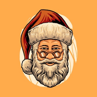 Santa claus head illustration