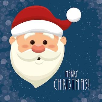 Санта-Клаус головой изолированный дизайн иконок