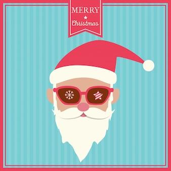 Санта-клаус-хипстер