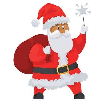 Santa claus icon isolated on white background.