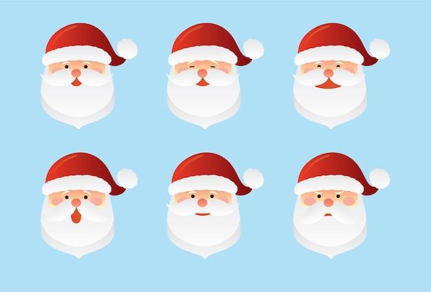 Santa claus icon set