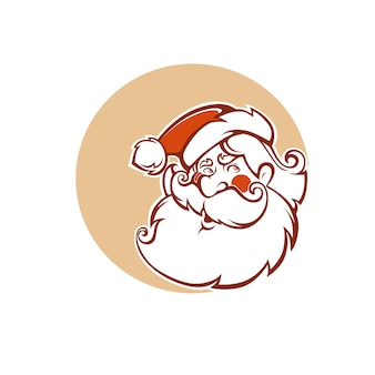 Santa claus image in cartoon style.  illustration for greeting christmas card.
