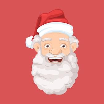 サンタの帽子をかぶったサンタクロース