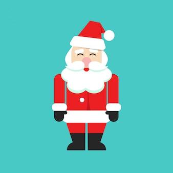 Santa claus isolated vector person flat cartoon