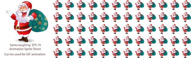 Santa claus laughing animation