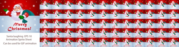 Santa claus laughing animation