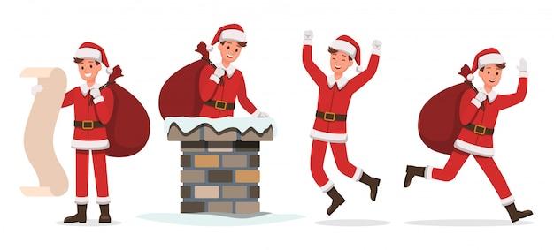 Santa claus man characters