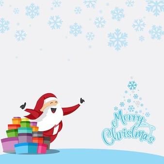 Santa claus merry christmas icon