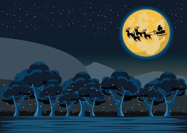 Santa claus in the moon