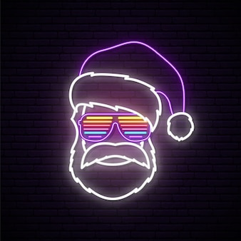 Santa claus neon sign.