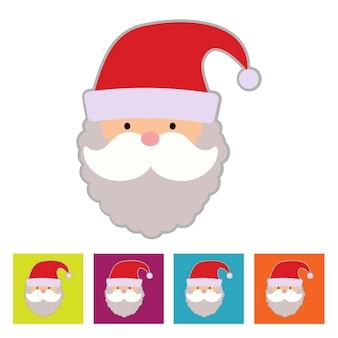 Santa claus. new year icon. vector illustration
