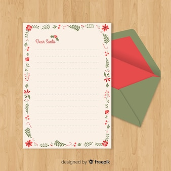 Santa claus plants letter template