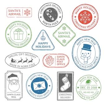 Santa claus post stamp