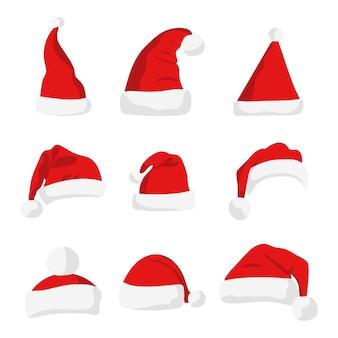 산타 클로스 빨간 모자 실루엣입니다.