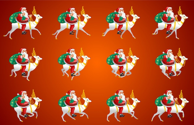 Santa claus riding animation