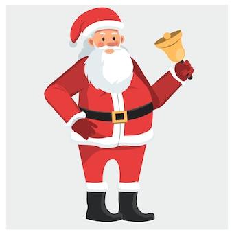 Santa claus ring the bell.